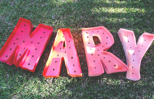 mary letters painted