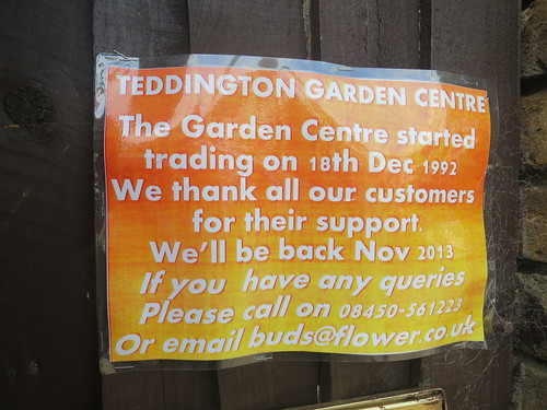 Garden centre closed until November