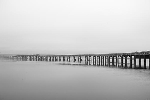 Simple Gothic View - Tay Rail Bridge - Dundee Scotland