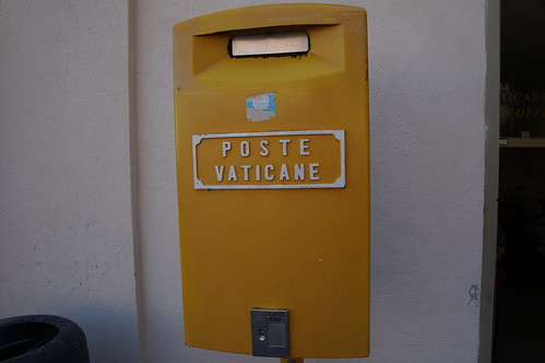 In Vatican City you are not suppose to use stamps from Italy, which is literally across the street from almost anywhere you are in the Vatican. They have their own postal service and it is considered much more reliable than in Italy....which is still across the street from anywhere in the Vatican.