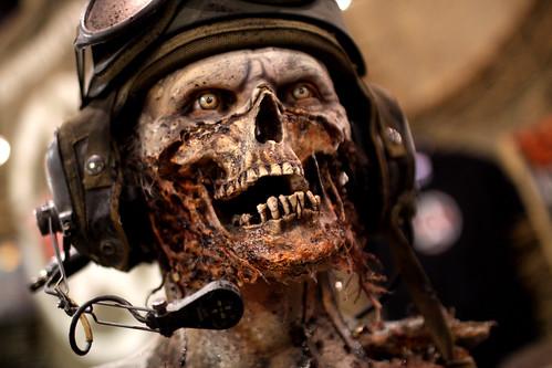 Zombie pilot statue