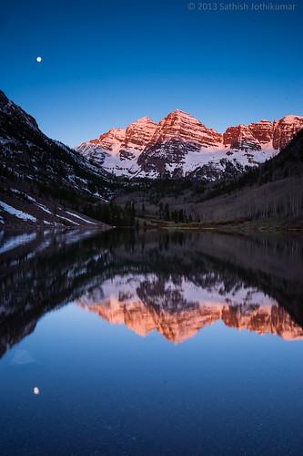 sunrise rockies colorado unitedstates aspen maroonbells memorialweekend maroonlake sony1635mmf28 sonydslta99
