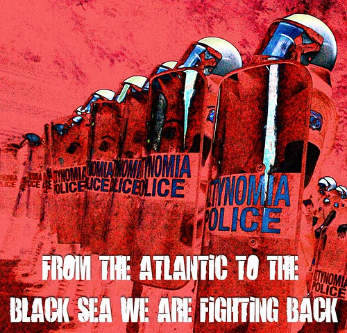 Poster - From the Atlantic to the Black Sea, we are fighting back. by Teacher Dude's BBQ
