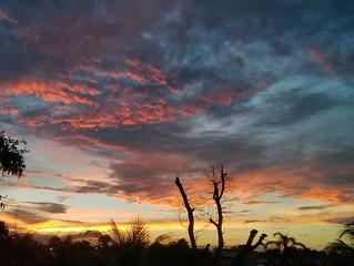 Pucallpa, Peru sunset.