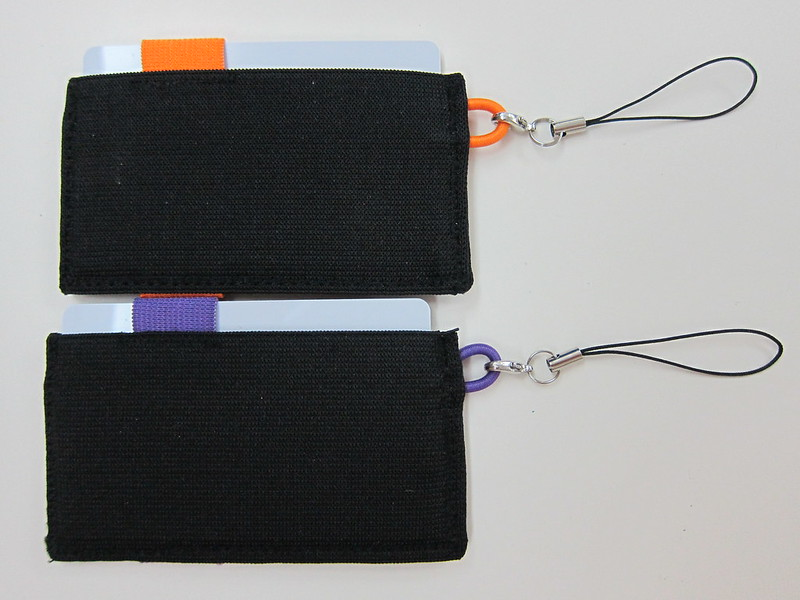 Crabby Wallet - Orange & Purple - Back View