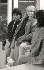 Tri-X Files 84_30.12a: Ranjan and Sarah Hanging Out on the Senior Steps