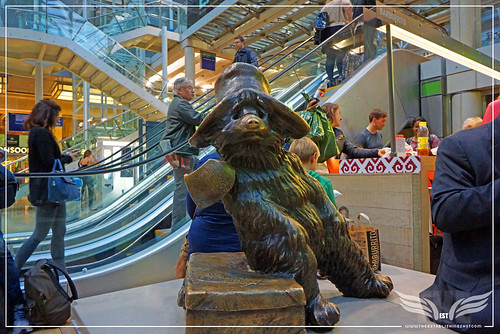 The Establishing Shot:  PADDINGTON STATUE - PADDINGTON STATION LONDON