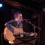 Mon, 18/07/2016 - 9:48pm - Brian Fallon (Gaslight Anthem) performs solo songs for an audience of WFUV members at The McKittrick Hotel (home of Sleep No More), 7/18/16. Hosted by Dennis Elsas. Photo by Laura Fedele