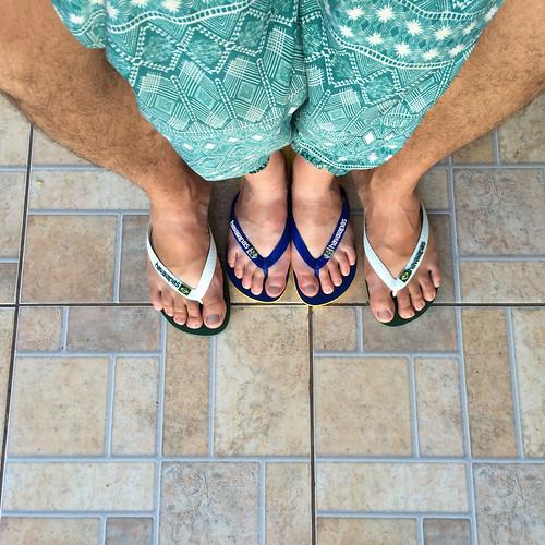 Foz do Iguaçu: mais où sommes-nous ? Au Brésil bien sûr ! Vive les Havaianas !!