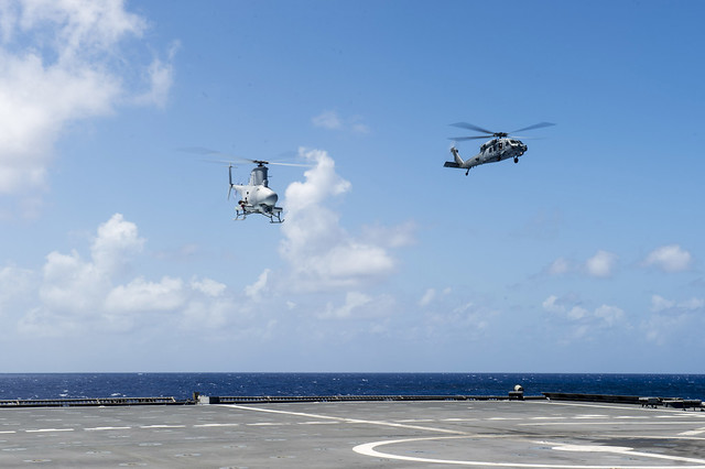 Helicopter Combatant Squadron 23 Conducts Flight Ops with USS Coronado