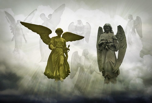 [Free Images] Arts, Sculptures, Christianity, Angel, Graphics, Photo Manipulation ID:201304041200