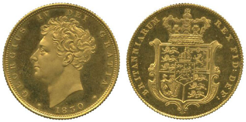 1830 George IV, Proof Sovereign