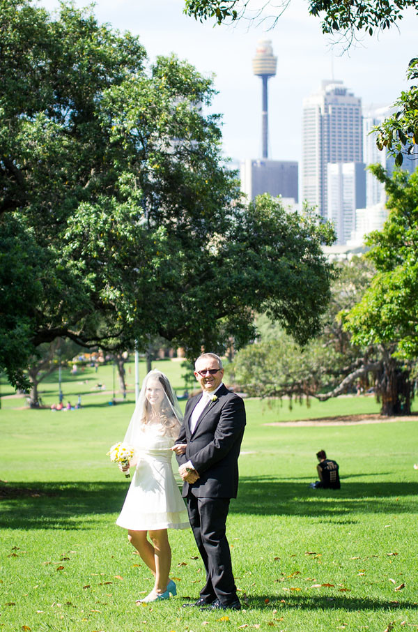 victoria park sydney wedding walking down aisle