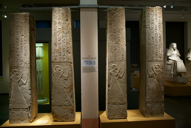 Djed pillars, grave Ptahmes RMO Leiden