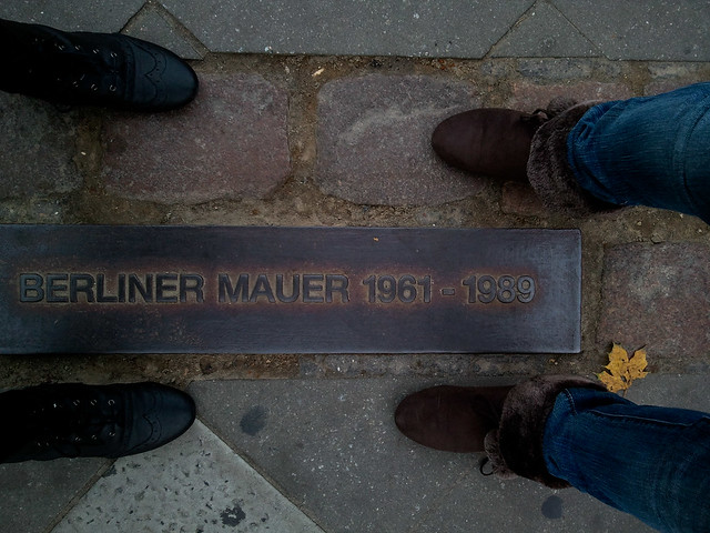 Straddling the Berlin Wall | Berlin, Germany