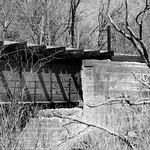 Railroad Bridge over Long Branch at I-45, Ferris, Texas 1303271142BW