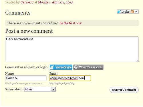 Blog Leaving a Comment