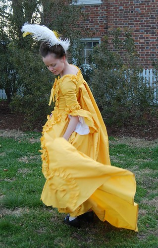 Yellow Robe Francaise, or Sacque