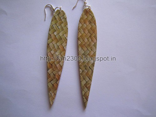 Handmade Jewelry - Card Paper Earrings  (16) by fah2305