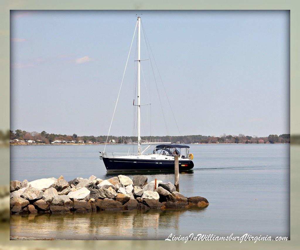 Sailboat At Yorktown