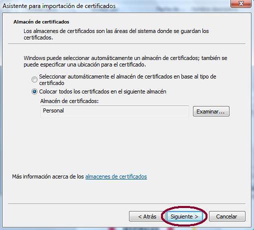 Asistente de importación certificados