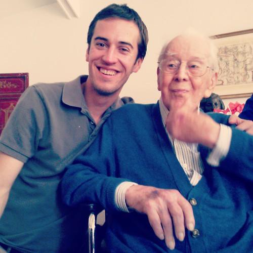 Celebrating Vern's grandfather's 100th birthday! Woooot!