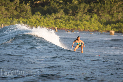 Surfing Cobra Reef, Baler
