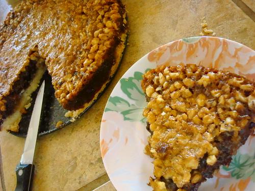 Choco-walnut pie
