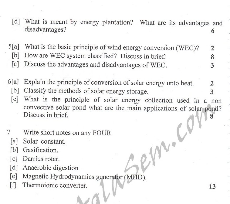 DTU Question Papers 2010 – 8 Semester - End Sem - ENE-412