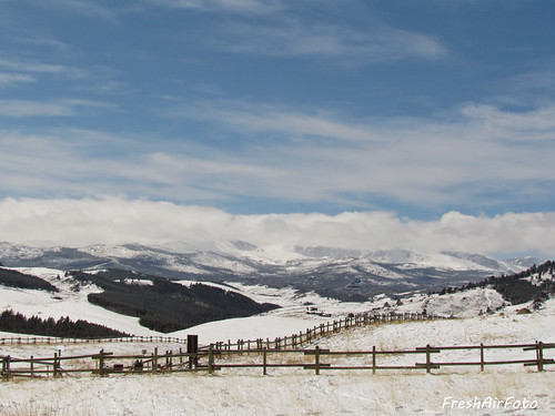 winter sky snow nature clouds forest fence landscape wooden national wyoming bighornmountains winterstormwalda