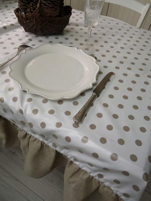nappe pois lin et toile enduite flickr photo sharing. Black Bedroom Furniture Sets. Home Design Ideas