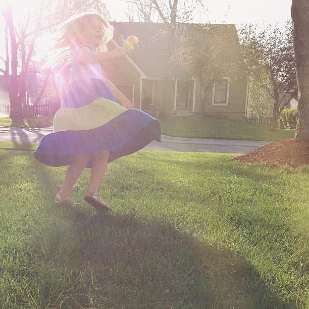 We love spring! #sun #flare #spring #twirl