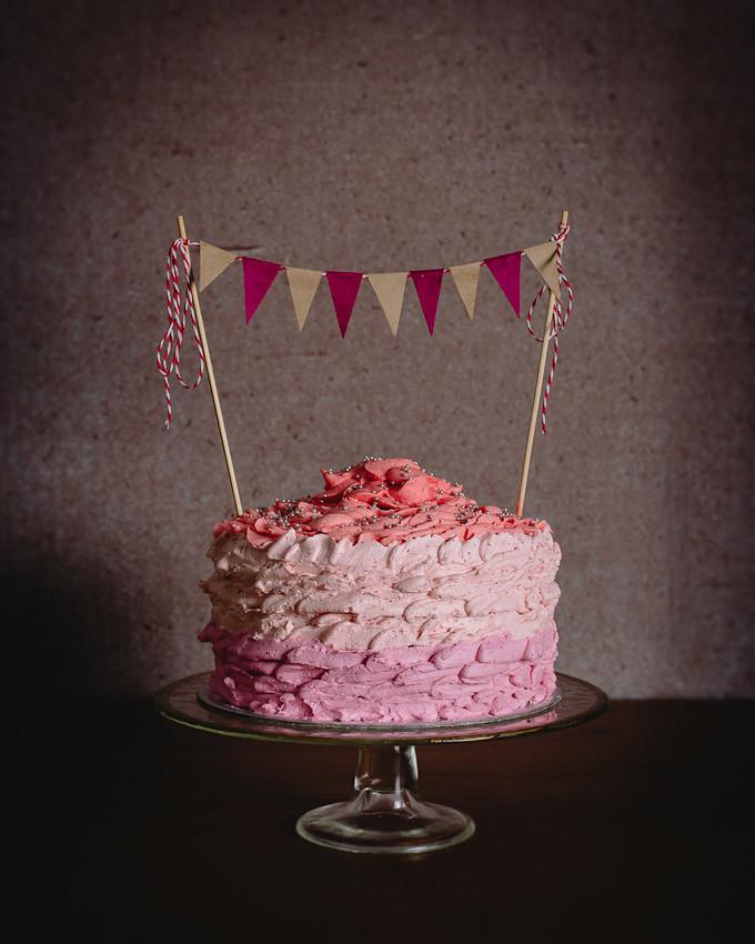 Ombr Neapolitan Cake