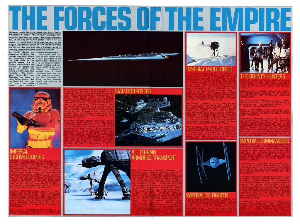 star wars empire strikes back poster magazine 2 stormtrooper probe droid at-at walker tie fighter executor star destroyer bounty hunter