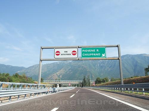 高速道路の終点