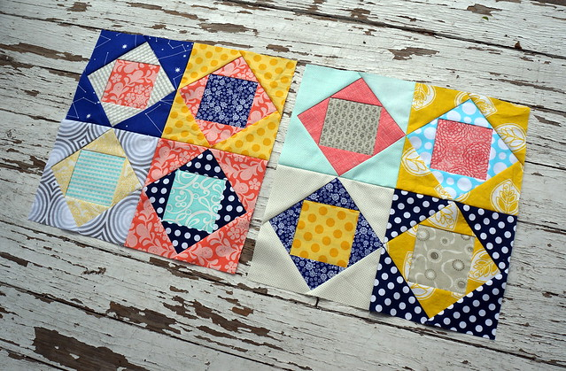 April do. Good Stitches Square In Square blocks