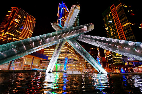 Vancouver Olympic Cauldron at Night