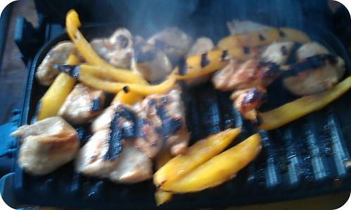 cooked fajitas