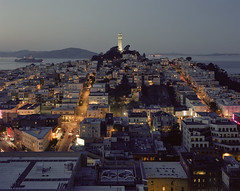 San Francisco Coit Tower One Blue Evening V700