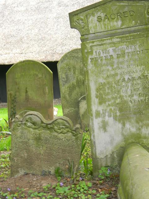 Old gravestones, Littlebourne churchyard