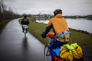 Cycling around Shinotsu Lake (Shinshinotsu Town, Japan)