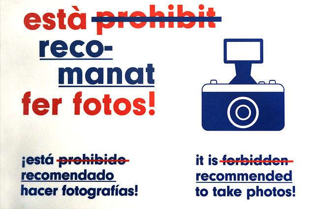 Prohibido no hacer fotos
