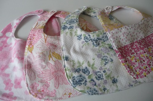 Vintage Sheet Project, Bibs by The Witch on the Barn