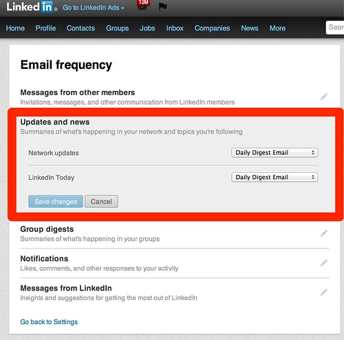 Email frequency | LinkedIn