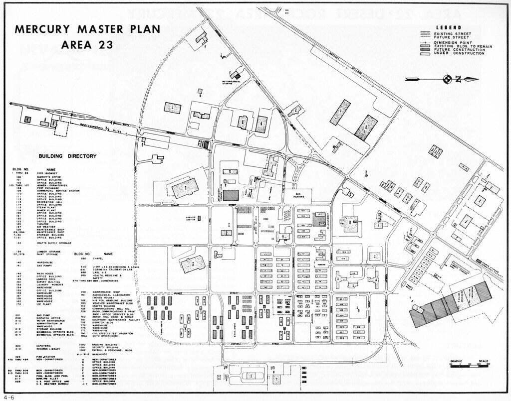 Mercury Master Plan Map Area 23 Nevada Test Site