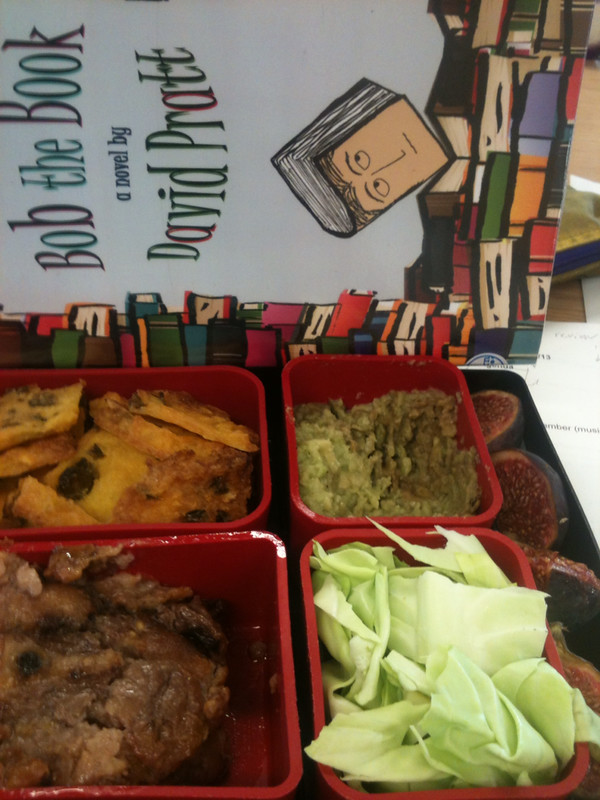 Lunchbox and book