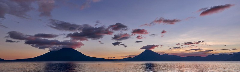 Sunset over Lago de Atitlan - Panachajel