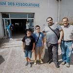 Aimar, Endika, Carlos y Víctor antes de entrar al mercadillo
