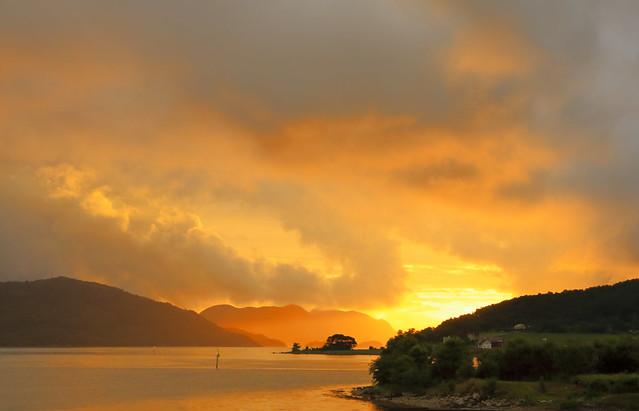 Solnedgang i Forsand juni -16