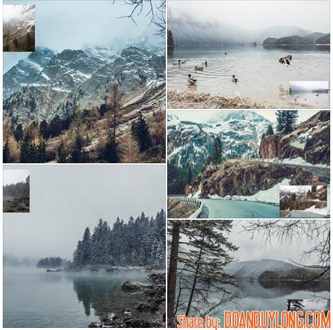 Preset màu Tây tone lạnh Cực đẹp cho Phong cảnh